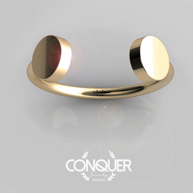 Open Ring, minimal and avant garde, White or Yellow Gold