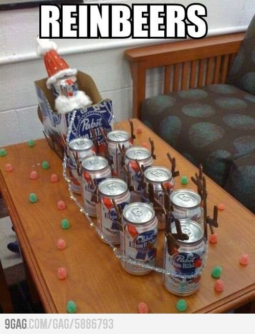 Reinbeers. This would be fantastic for boyfriend to wake up to on Christmas day :D