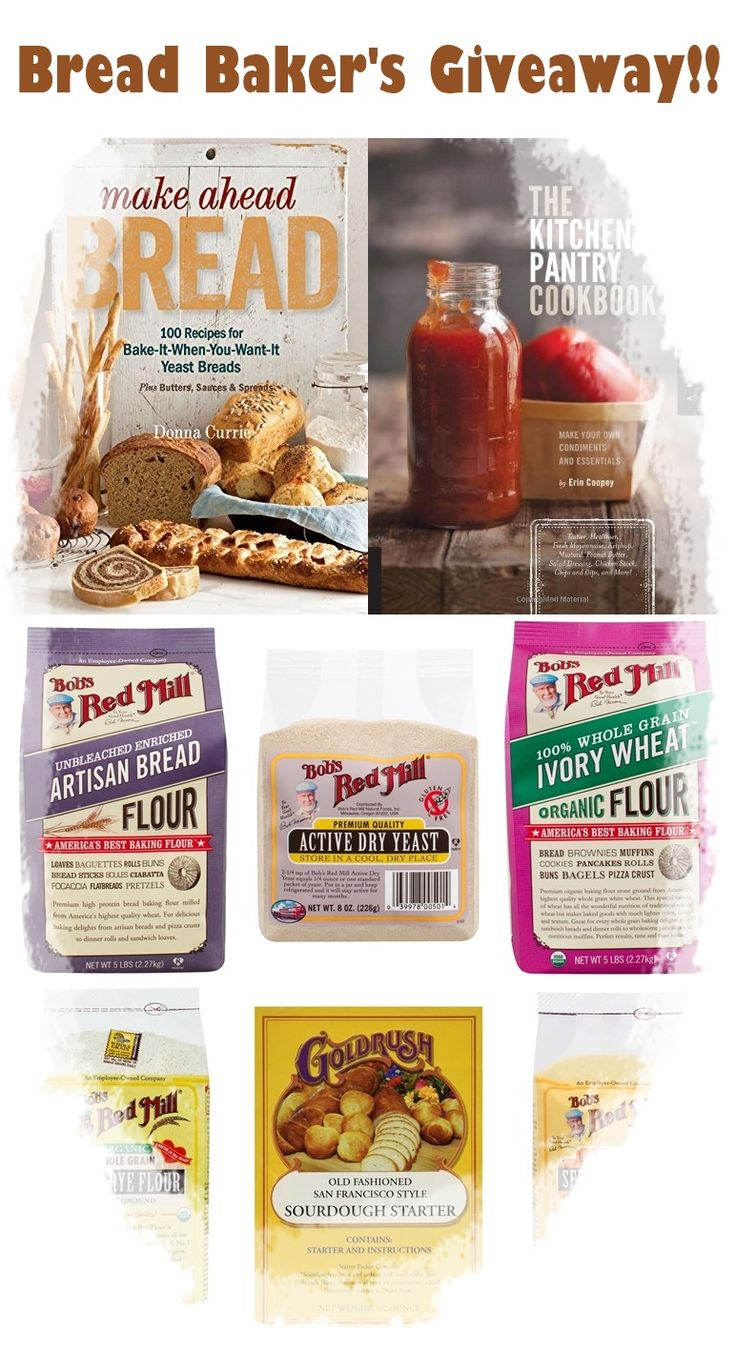 This package includes the perfect set of Bob's Red Mill products for your baking needs, plus two incredible from-scratch cookbooks!