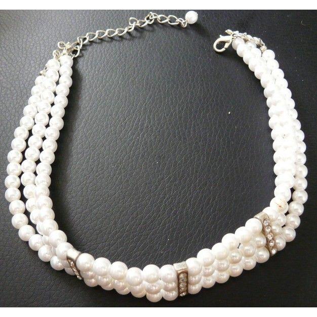 collar gargatilla de perlas