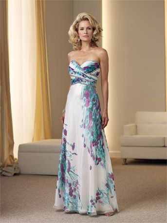 perfect for a garden wedding, Chiffon in a print or solid color is soft and romantic for mother of the bride or bridesmaids. At Occasions Bethel