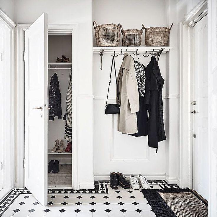 Garderob i hallen