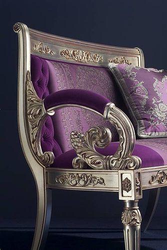 Italian royal purple velvet.