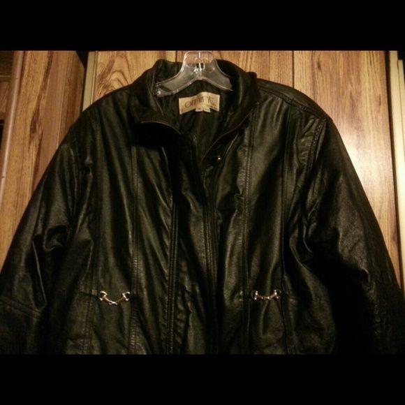 Selling this Leather Long Jackie in my Poshmark closet! My username is: nanabears. #shopmycloset #poshmark #fashion #shopping #style #forsale #omint #Jackets & Blazers