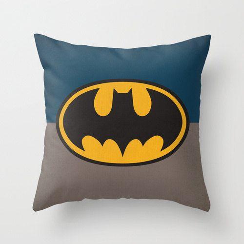 DC Universe Comic Superheroes Batman Pillow Cover via Etsy