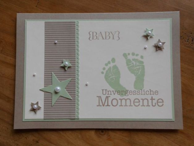Babykarte zur Geburt/Taufe  DIN A5