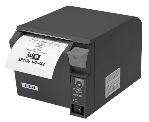Epson TM-T70 Thermal Receipt Printer - Parallel. Epson Dark Gray. Incl PSU  Get the high performance and reliability you need and streamline your POS system with Epsons space-saving TM-T70 thermal receipt printer. With its small size and low height (only 4.49 inch high), its designed to fit under