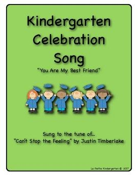 """Are you celebrating the end of Kindergarten?  Here is a song for you!This song is called, """"You Are My Best Friend"""" and it is sung to the tune of, """"Can't Stop the Feeling"""" by Justin Timberlake.It is the perfect song for celebrating the friendships made in Kindergarten!Check out my store for other Kindergarten Celebration songs!Thanks for stopping by!Visit my store for 5 other Kindergarten Celebration Songs sold separately or purchase the BUNDLE of all 6 songs and save money!Celebration Songs…"""
