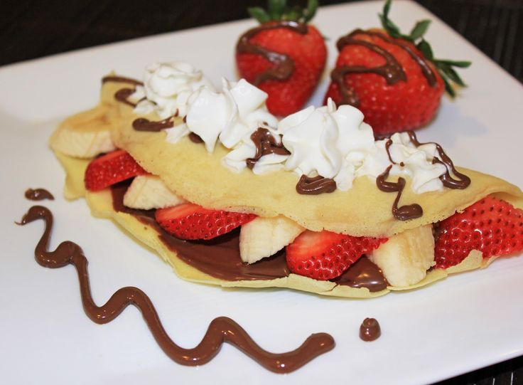 Strawberry, Banana, Nutella crepes :) | Food Recipes I love and would ...