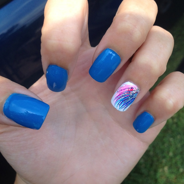 Blue Nail Polish One Finger: 17 Best Images About Finger Nail Designs On Pinterest