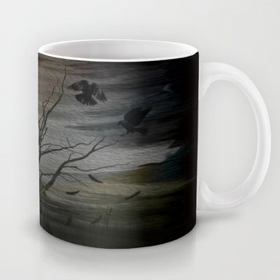 raven eyes Mug by Oscar Tello Muñoz - $15.00