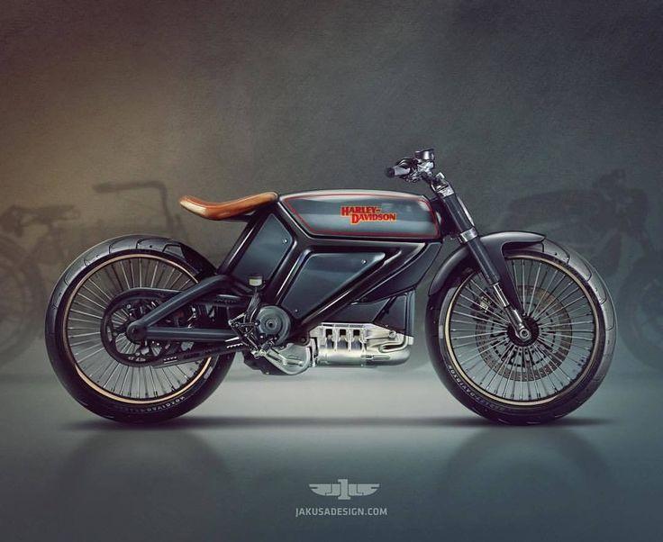 HarleyDavidson Bobber Electric Motorcycles Vintage Style by Jakusa design motorcycles bobber