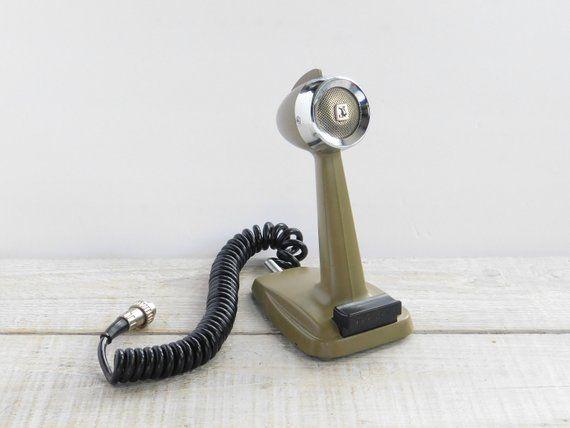 Vintage Johnson CB Radio Base Station Microphone ~ Retro Ham