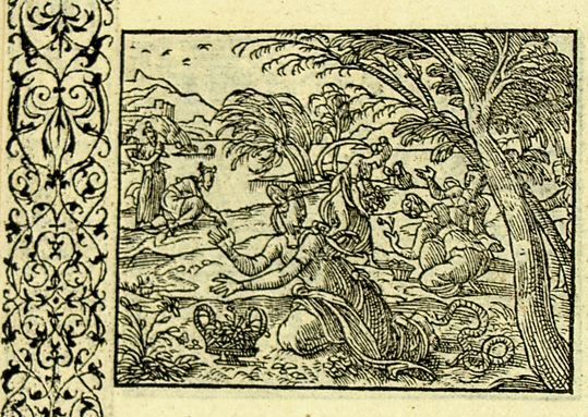 Eurydice mordue par un serpent (Métamorphose Lyon 1557) - Bernard Salomon