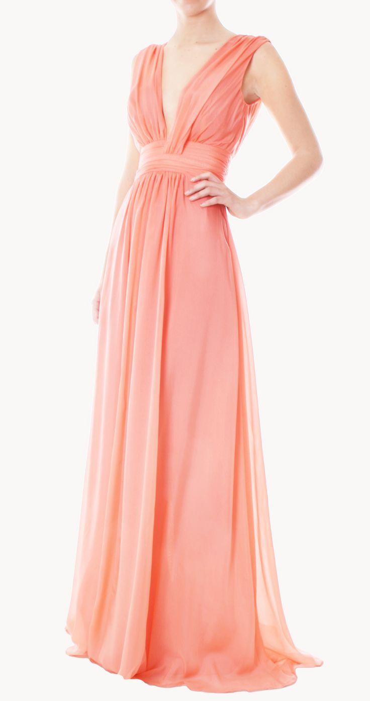 Contemporáneo Vestido De La Dama De Honor De Color Naranja Patrón ...