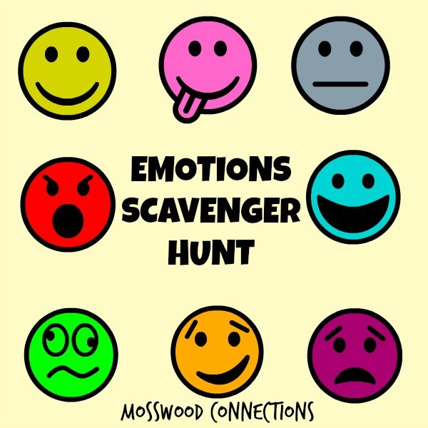 This Emotions Scavenger Hunt is a great way to build emotional awareness, perspective taking, whole body listening and social skills. By focusing on other people in a relaxed environment it takes the pressure off by eliminating the need to interact while experiencing the various feelings that need to be explored, recognized and defined.