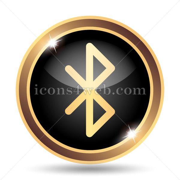 Bluetooth Gold Icon Web Design Icon Icon Icon Design