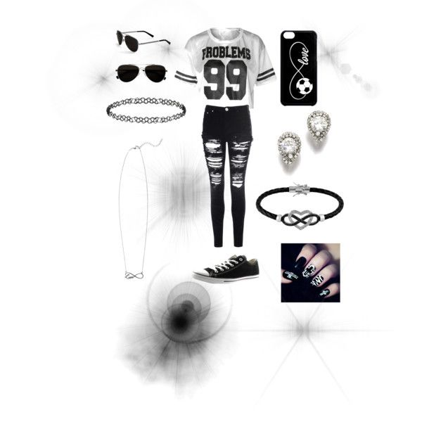 This girls personality by ally-star8888 on Polyvore featuring polyvore, fashion, style, Glamorous, Converse, Jewel Exclusive, Dorothy Perkins and Calvin Klein