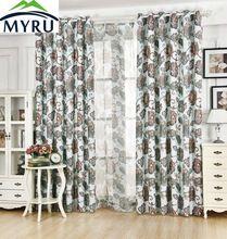 MYRU Beautiful Flower Curtain Retro Curtain Health and Environmental Protection Printing Curtain //FREE Shipping Worldwide //