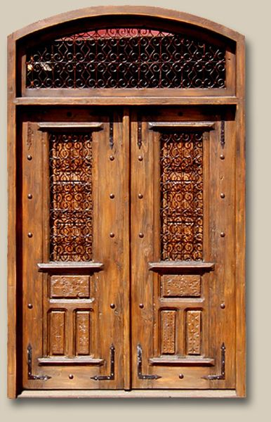 Front Entry with Operable Shutters and Transom Constructed from antique carved panels reclaimed Douglas fir & 13 best doors images on Pinterest   Entrance doors Exterior doors ...