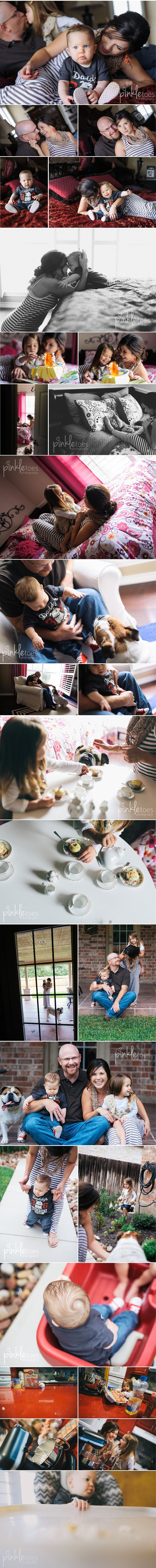 ©Pinkle Toes Photography - Lifestyle family session. The one of the dog at the tea party kills me!