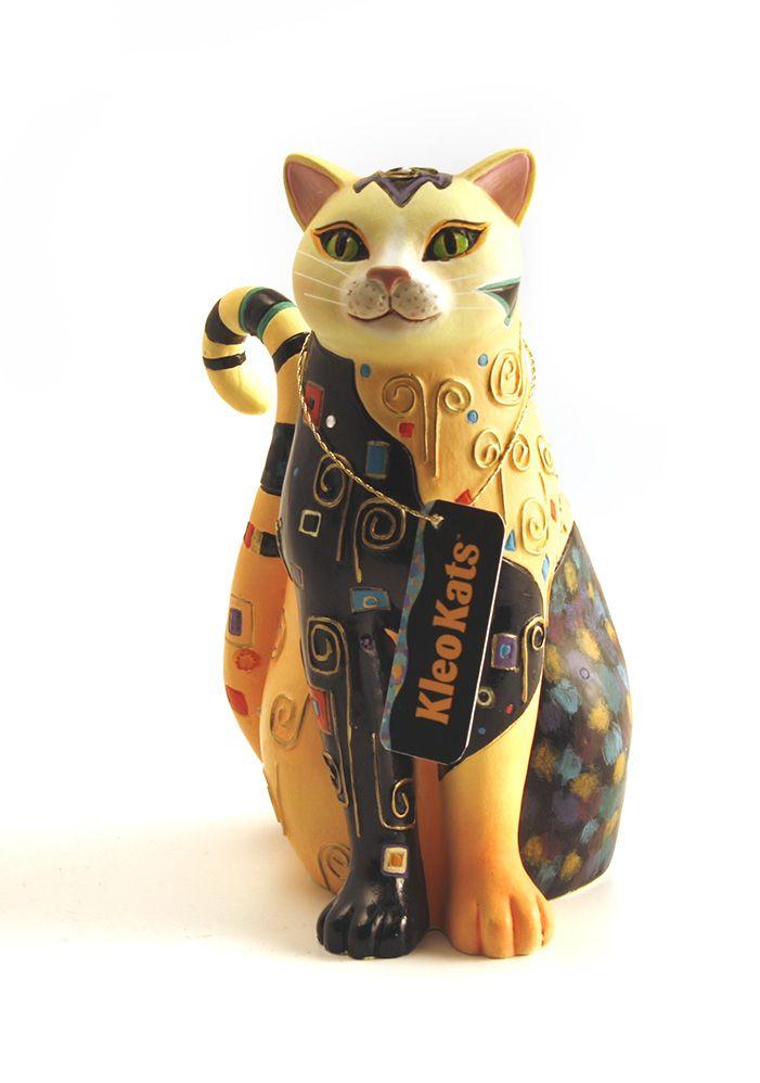 На основе Клео Каца картин, эта линия сувениров элегантный и интригующим - так же , как кошки. Конструкции показывают богатые узоры, цвета и украшенные драгоценными камнями акценты. Изготовитель Westland Giftware ( в отставке)  Decko ж hangtag.jpg