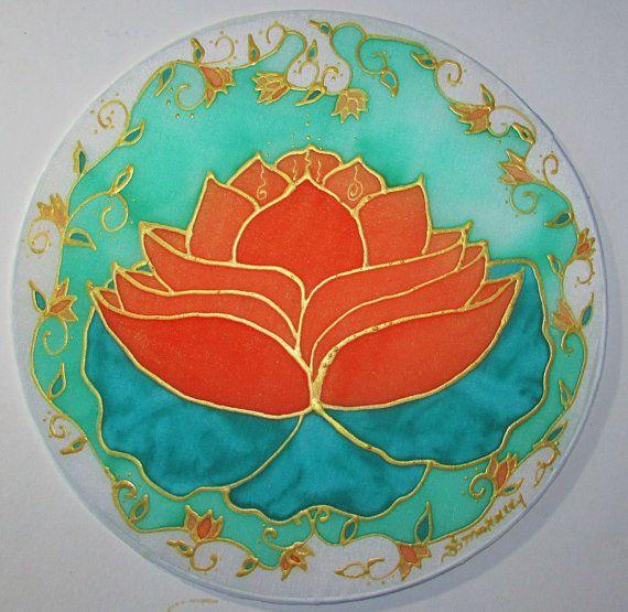 "Flower Mandala ""Orange Lotus"" second chakra art, mandala art, spiritual art, lotus art, meditation art lotus art on Etsy, $34.00"