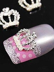 10pcs de la perla de la corona 3d pedrería aleaci... – USD $ 2.99