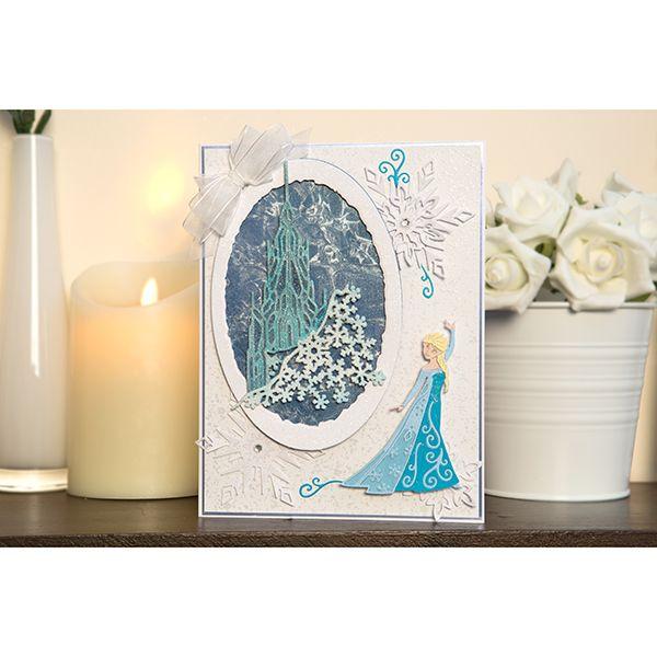 Disney Frozen Queen Elsa Snowflake & Swirls Papercraft Die Cutter (376356)   Create and Craft