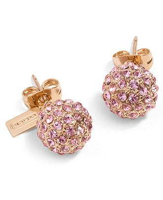 COACH HOLIDAY PAVE STUD EARRINGS - Coach Jewelry - Handbags & Accessories - Macy's