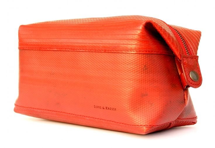 The Elvis & Kresse wash bag is made from genuine decommissioned fire-hose deployed in active duty for up to 30 years, fighting fires around the UK.