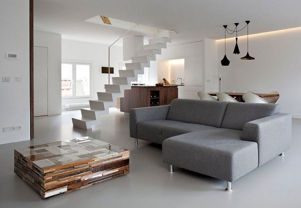 cooles bild wohnzimmer:White Apartment Interior Design