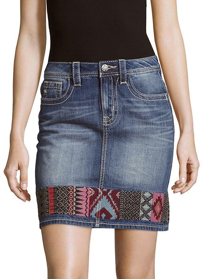 Miss Me Women's High-Rise Cotton Skirt