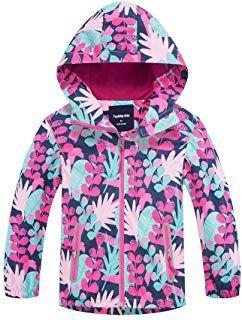 b1c1dc989a1 MITI Girls Rain Jacket-Waterproof Kids Raincoats Girls Hooded Jackets with  Fleece Liner Winter Windbreaker Outwear  girl  coat  jacket  fashion  moda  ...