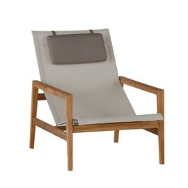 Coast Outdoor Easy Chair  MidCentury  Modern, Transitional, Canvas, Metal, Wood, Lounge Chair by Summer Classics