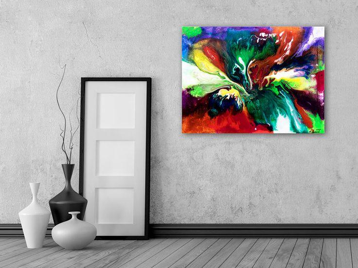HOME DECOR WITH PAINTINGS !  Solar Storm II  My website: https://artbylonfeldt.dk/  #art #arts #paintings #painting #fineart #artbylonfeldt