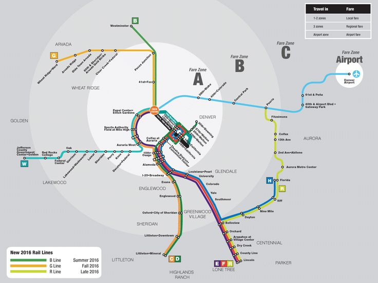 Rtd rail map rtds rail system consists of 5 rail lines