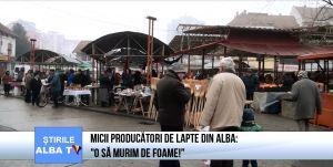 """Micii producătorii de lapte din Alba: """"O să murim de foame!"""""""