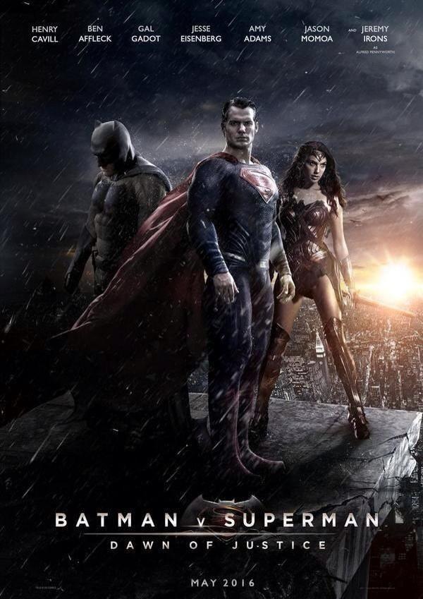 Batman v Superman やっぱりひどかった。骨太バットマンは違和感あり。クリスチャンベールでお願いしたい。ワンダーウーマンの登場は良かった。