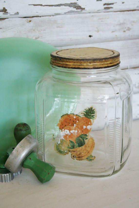 Large Vintage Hoosier Jar 211 best Hoosier