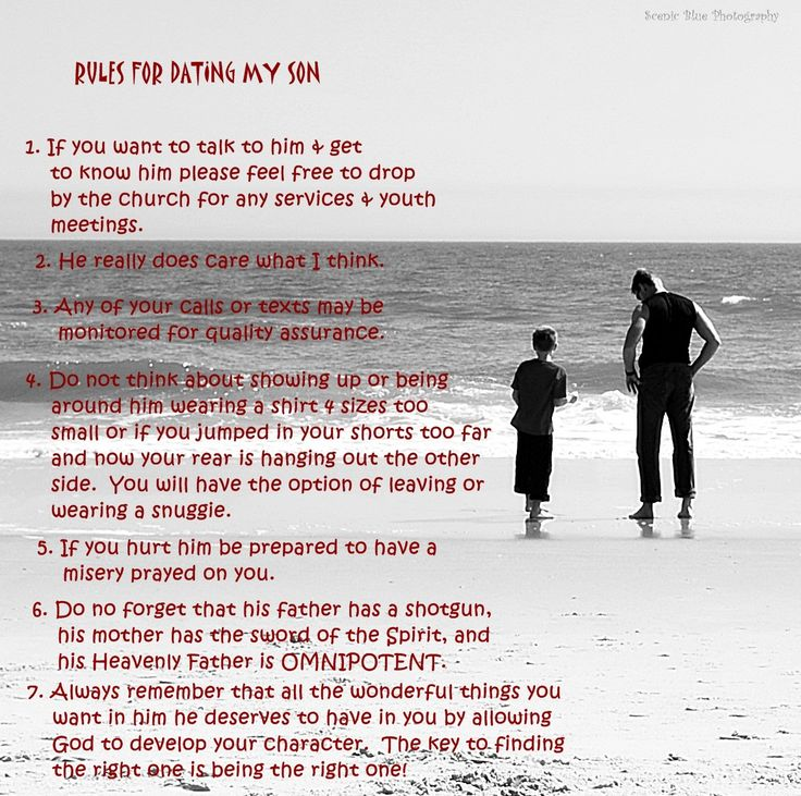 Funny rules for dating my son