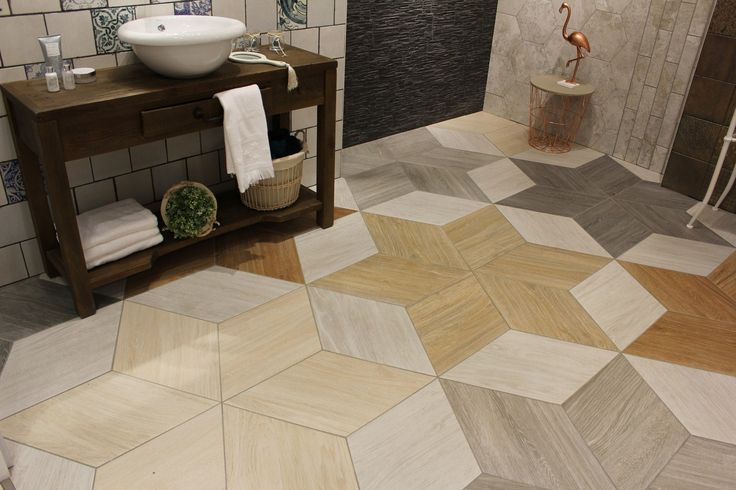 Diamond Timber by Realonda – original floor layouts of rhombic tiles in five chromatic variations