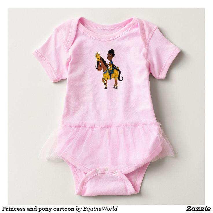 Princess and pony cartoon Baby-Einteiler