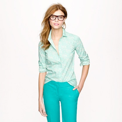 Liberty perfect shirt in floral - casual shirts - Women's shirts & tops - J.Crew