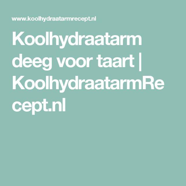 Koolhydraatarm deeg voor taart | KoolhydraatarmRecept.nl