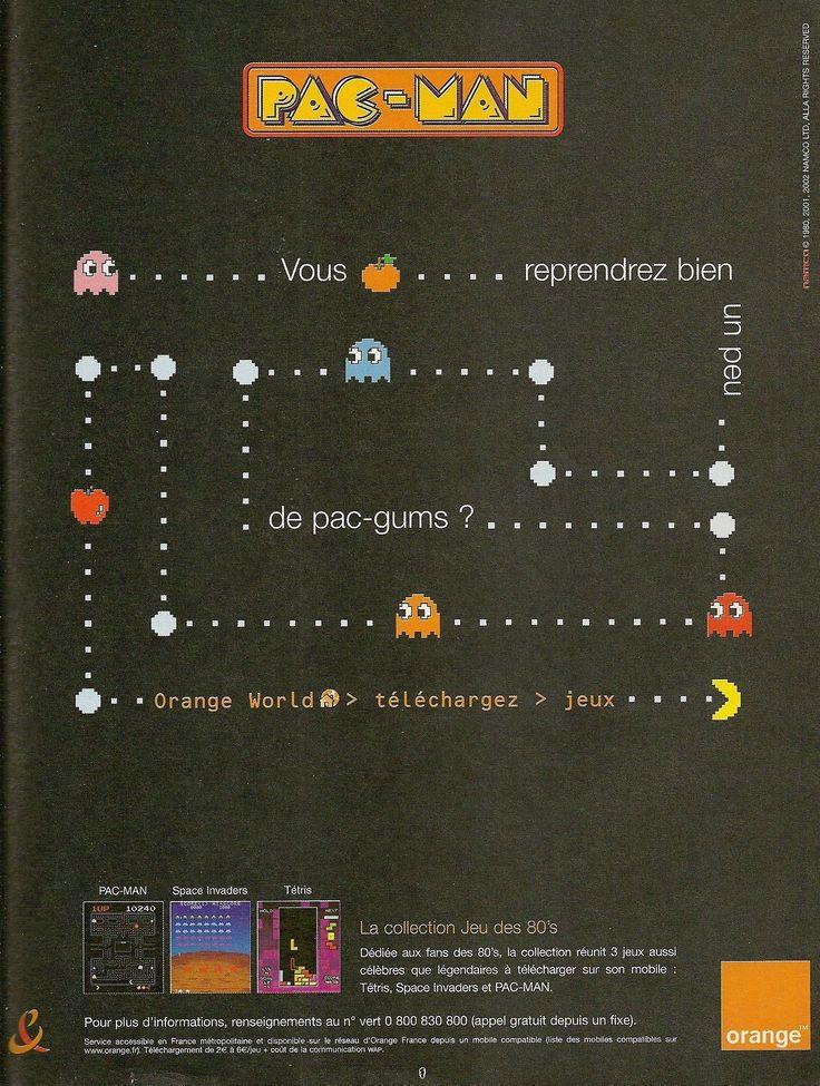 'Pac-Man - 'Orange World''[MOBILE] [FRANCE] [MAGAZINE] [2005] • Joystick, February 2005 (#167) • via Abandonware Magazines