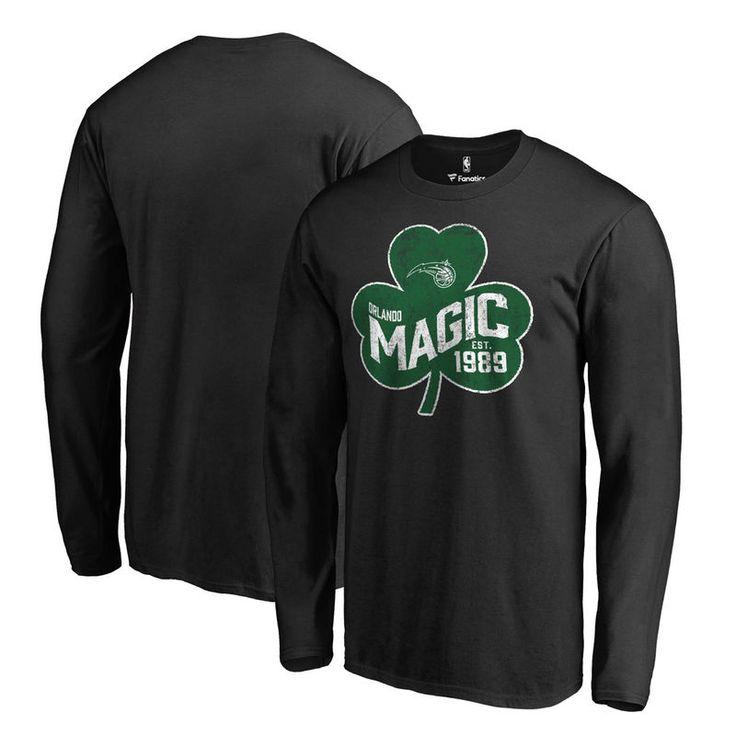Orlando Magic Fanatics Branded Big & Tall St. Patrick's Day Paddy's Pride  Long Sleeve T-Shirt - Black | Orlando magic and Products