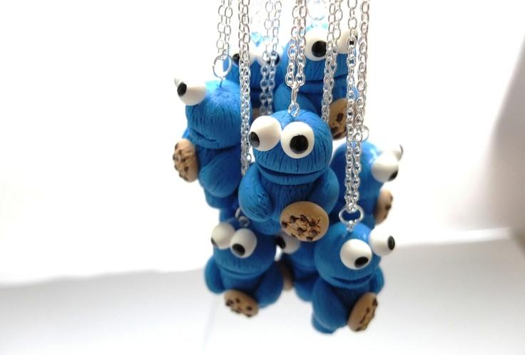 Cookie monster necklace - zwergplumploris - Kettingen