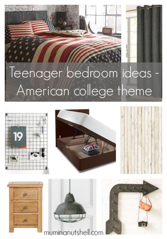 a tween to teenager bedroom makeover in an all american college theme.
