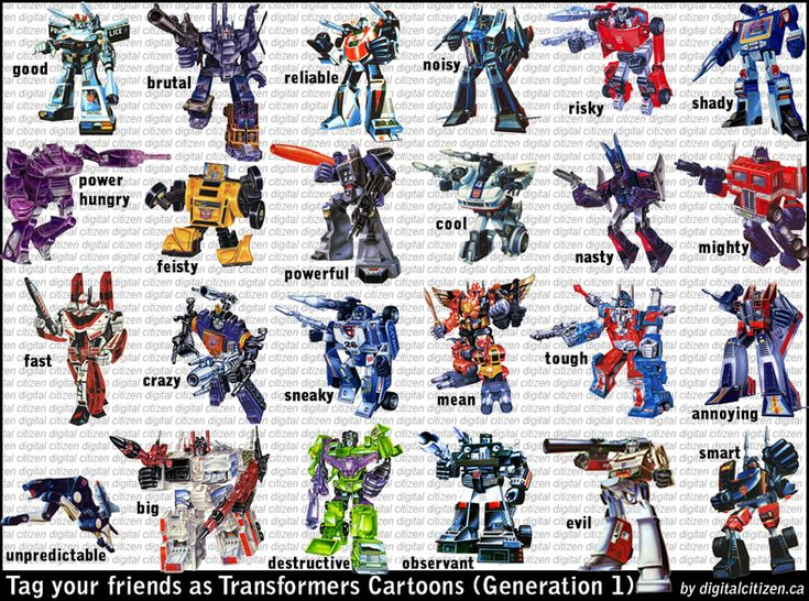 Transformers G1 and Movie Facebook Friends Tagging Meme ...